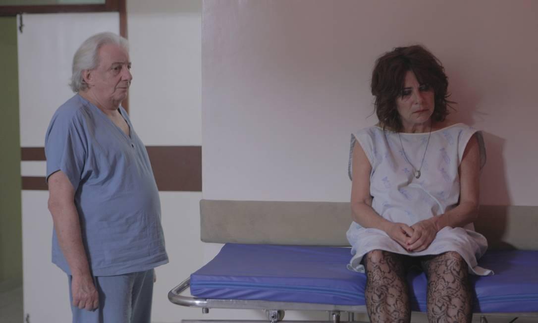 Marco Nanini e Denise Weinberg em 'Greta' Foto: Divulgação/Aline Belfort