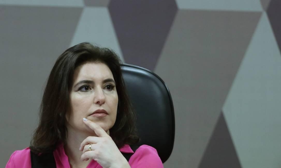 A presidente da CCJ do Senado, Simone Tebet Foto: Jorge William / Agência O Globo
