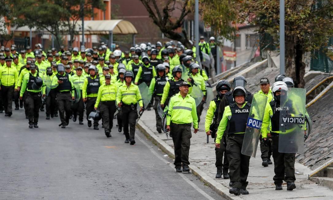 Até o momento, 14 pessoas ficaram feridas e 477 foram detidas durante os protestos, mas o número deve aumentar com as novas manifestações no país Foto: CARLOS GARCIA RAWLINS / REUTERS