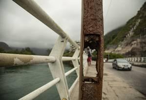BA Rio de Janeiro (RJ) 08/10/2019 Ponte Velha em estado de alerta - Foto Ana Branco / Agencia O Globo Foto: Ana Branco / Agência O Globo