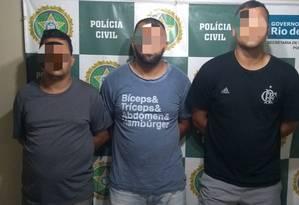Quadrilha foi presa nesta segunda na Baixada por desviar carga Foto: Divulgação