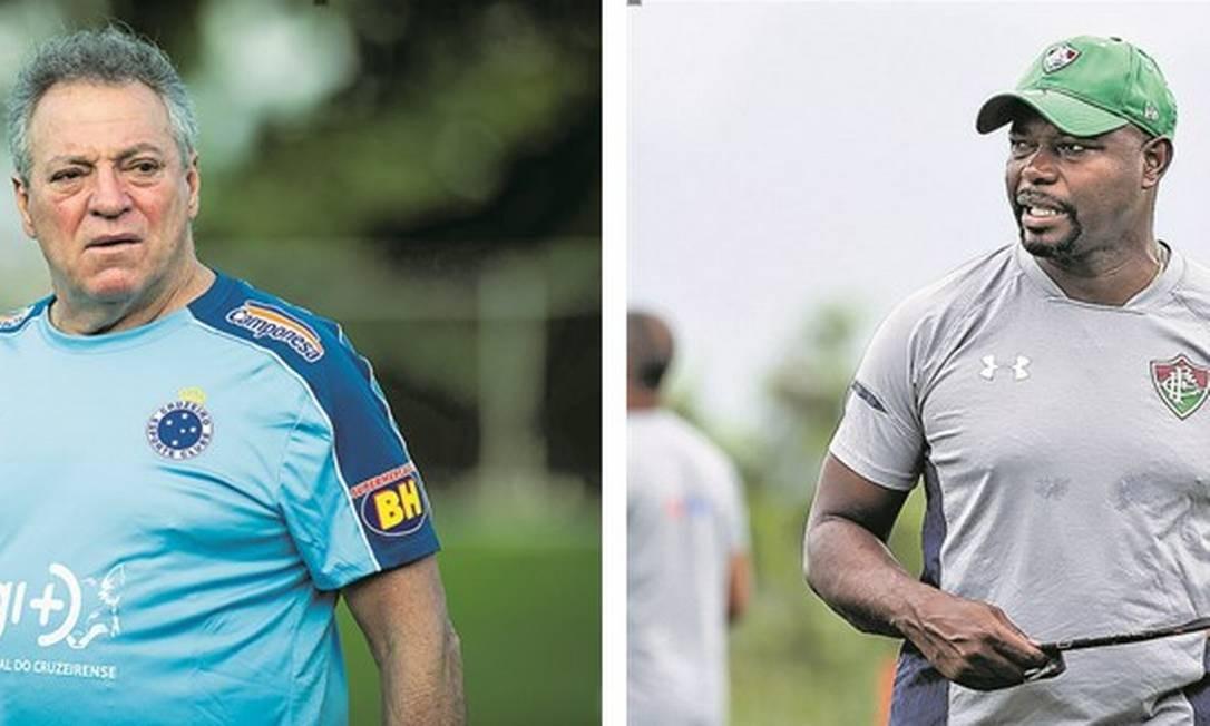 Abel Braga e Marcão vão se enfrentar nesta quarta, no Mineirão Foto: Divulgação Cruzeiro e Fluminense