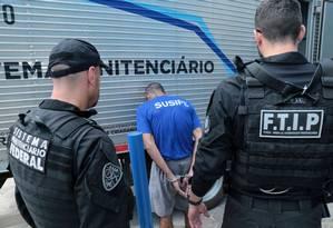 Agentes da força-tarefa da intervenção federal fazem transferência de presos no Pará 02/10/2019 Foto: Alex Ribeiro / Agência Pará