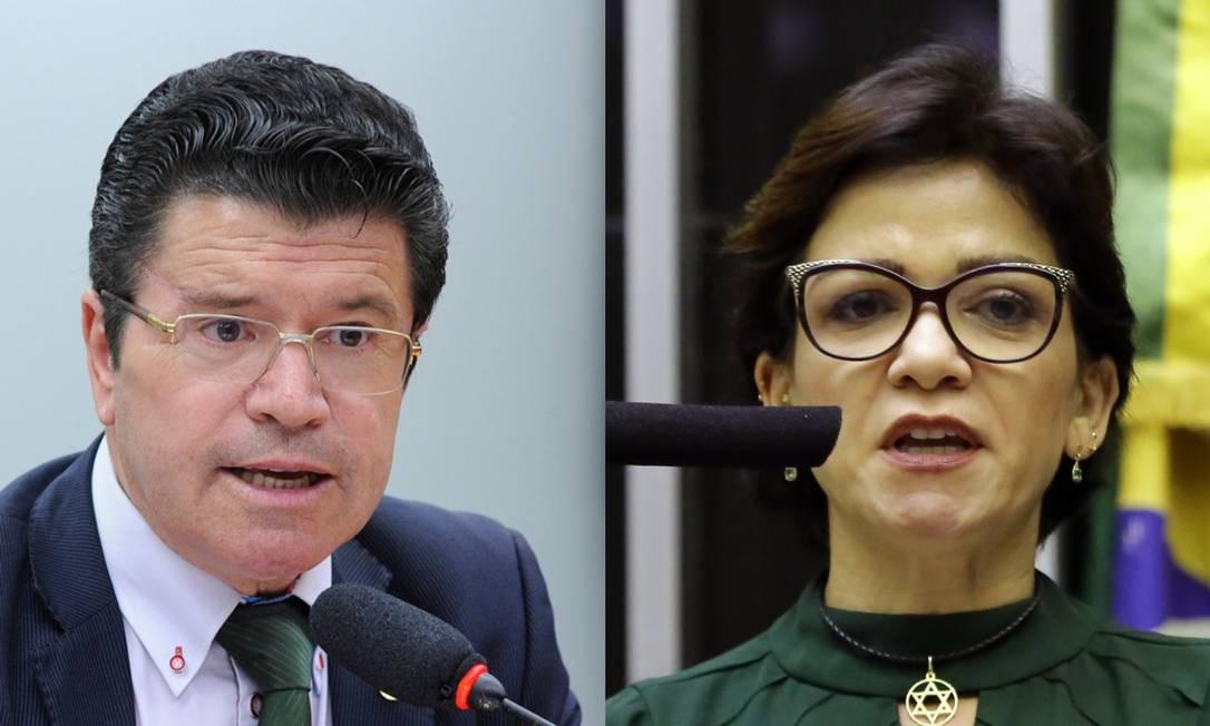 Os deputados Victorio Galli e Alê Silva, ambos do PSL Foto: Câmara dos Deputados