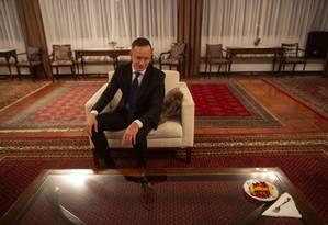 Chanceler da Hungria, Péter Szijjártó, afirma que o mundo está pressionado pelas 'elites liberais' e ataca Pacto Global pela Imigração da ONU Foto: Daniel Marenco / Agência O Globo