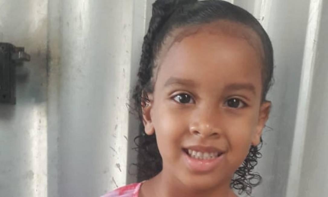Estela, de 6 anos, está desaparecida Foto: Reprodução