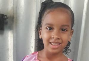 Estela, de 6 anos Foto: Reprodução