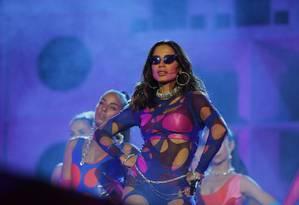 Anitta durante o Rock in Rio: evento marcou rompimento da cantora com Ludmilla, sua parceira em 'Onda diferente' Foto: Pablo Jacob / Agência O Globo
