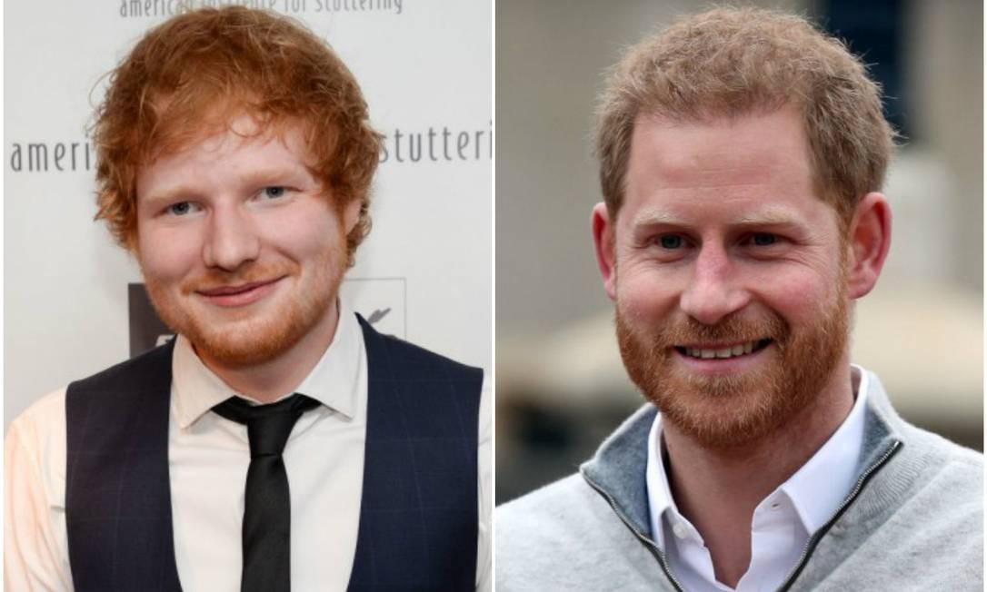 Ed Sheeran e Harry Foto: AFP