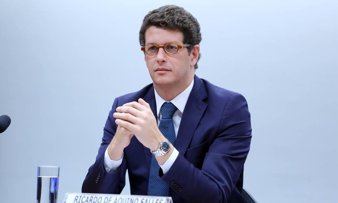 Ministro do Meio Ambiente, Ricardo Salles, em audiência pública para esclarecer os números crescentes do desmatamento da Amazônia. Foto: DaniloBorges / Câmara dos Deputados