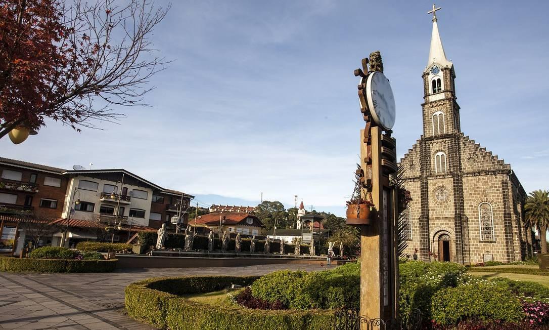 A Igreja Matriz de São Pedro, no centro de Gramado Foto: Cleiton Thiele / Divulgação
