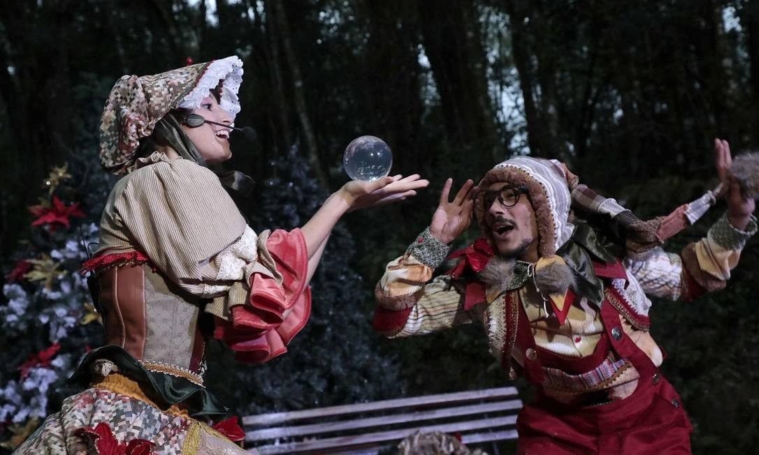 Cena de um dos espetáculos teatrais montados em Gramado especialmente para o Natal Luz Foto: Divulgação