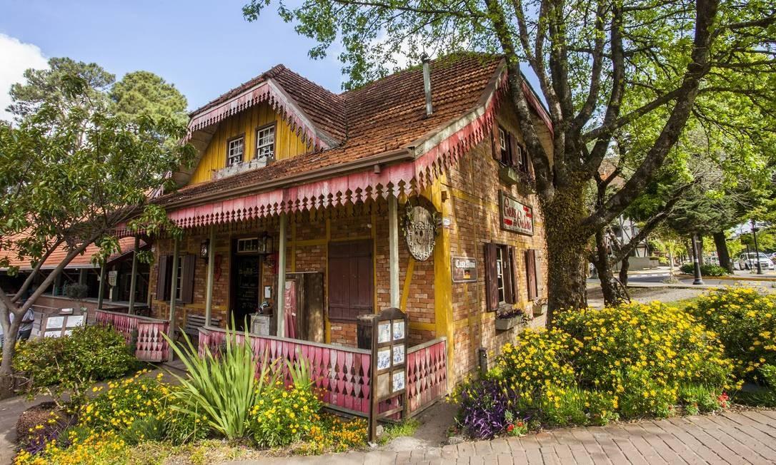 A charmosa Casa do Colono, em Gramado Foto: Cleiton Thiele / Divulgação