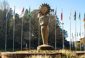 A estátua do Kikito, a estatueta que simboliza o Festival de Cinema de Gramado, um dos mais tradicionais do país Foto: Cleiton Thiele / Divulgação
