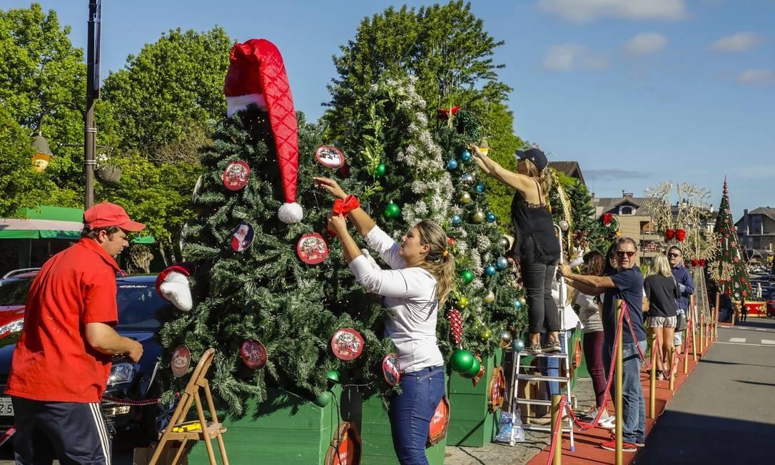 Parte do calendário do Natal Luz, a Tannenbaumfest é um evento que reúne moradores de Gramado e turistas Foto: Divulgação