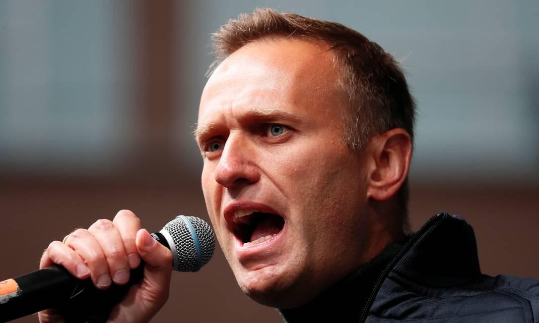 """O líder russo opositor Alexey Navalny afirma que as ações do Ministério da Justiça contra ele e sua organização são """"absolutamente ilegais"""" Foto: SHAMIL ZHUMATOV / REUTERS"""