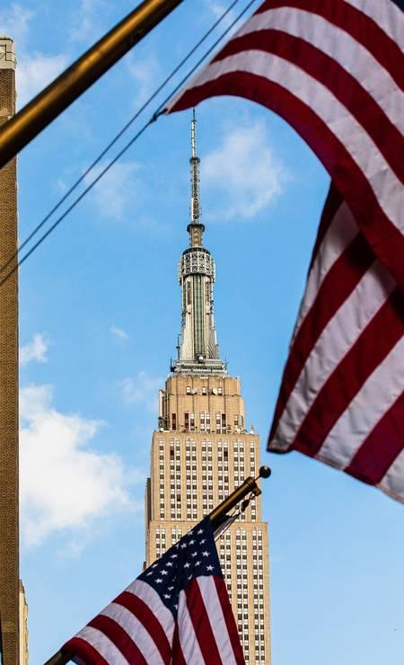 O Empire State Building visto da Rua 34, em Nova York Foto: Mark Wickens / The New York Times
