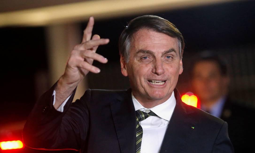 O presidente Jair Bolsonaro chega ao Palácio da Alvorada Foto: ADRIANO MACHADO / REUTERS
