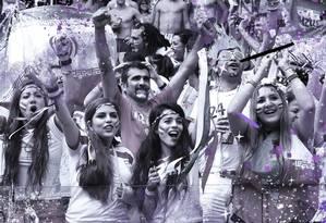 Torcedoras iranianas durante a Copa do Mundo de 2014, no Brasil. Expectativa é de que cenas parecidas possam ocorrer em breve nos estádios do Irã Foto: JAVIER SORIANO / AFP