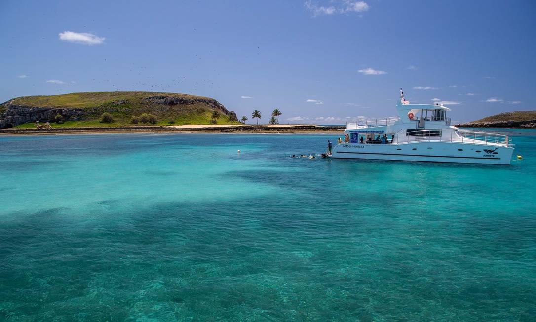 O arquipélago de Abrolhos, que concentra a maior biodiversidade do Atlântico Sul Foto: MARCO ANTÔNIO TEIXEIRA / WWF / Agência O Globo