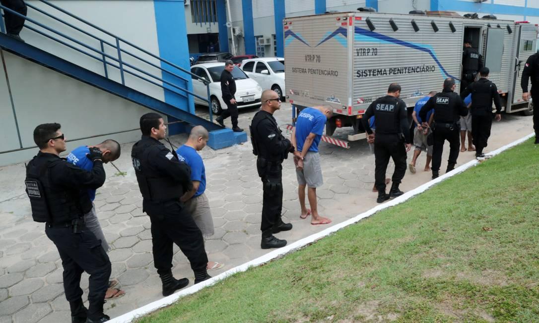 Operação transfere detentos no Pará. MPF denuncia tortura em unidades do estado sob intervenção federal Foto: Alex Ribeiro / Agência Pará