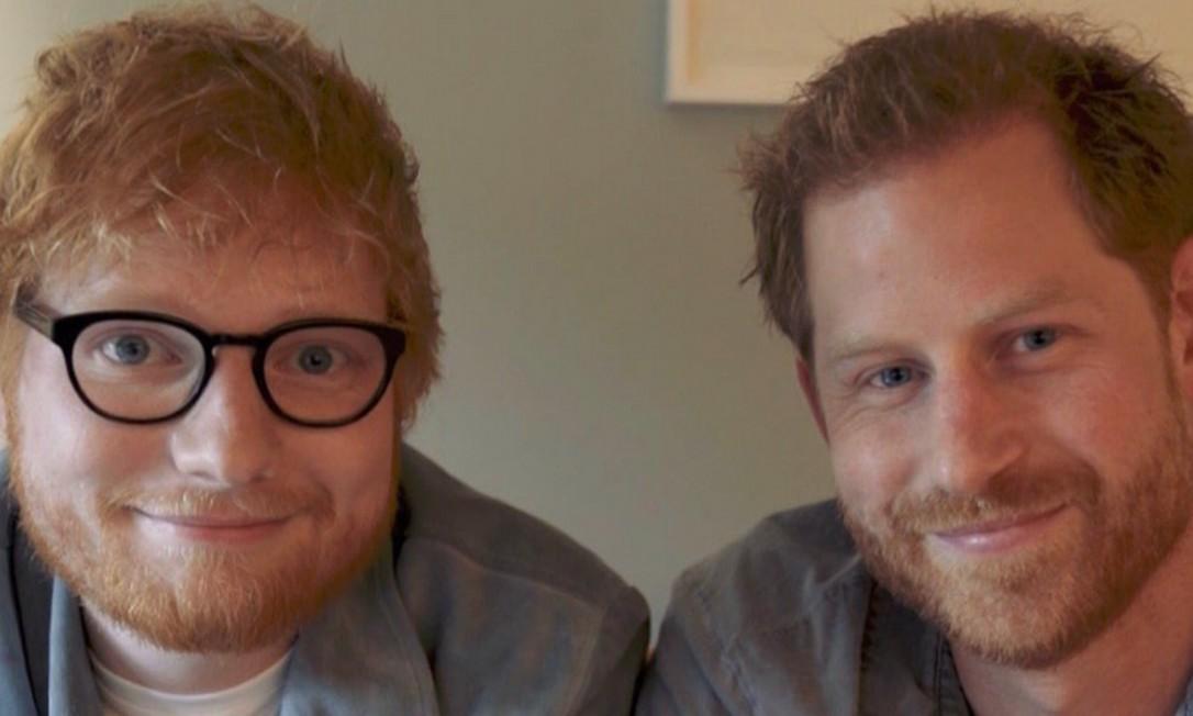 Príncipe Harry e Ed Sheeran em vídeo no Instagram Foto: Instagram