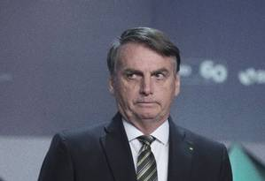 O presidente Jair Bolsonaro no Forum de Investimentos no WTC Foto: Edilson Dantas / Agência O Globo