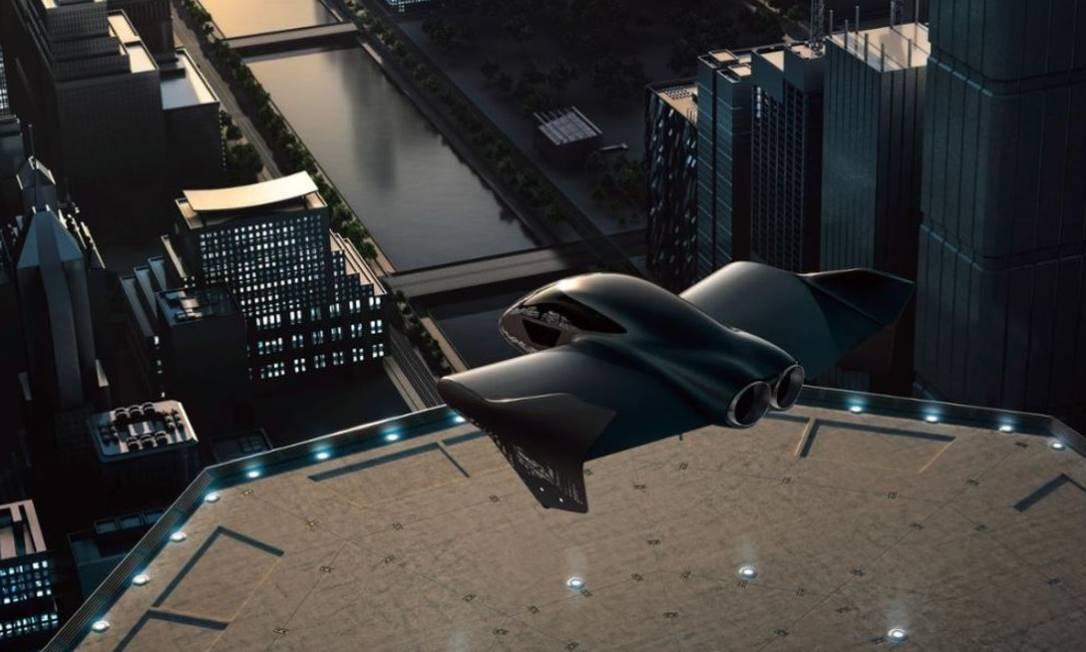 Representação artística de um protótipo de veículo voador Foto: Divulgação