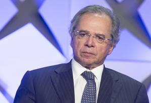Ministro Paulo Guedes disse, durante oo Forum de Investimentos, em São Paulo, quereforma administrativa deve ir ao Congresso após a Previdência Foto: Edilson Dantas