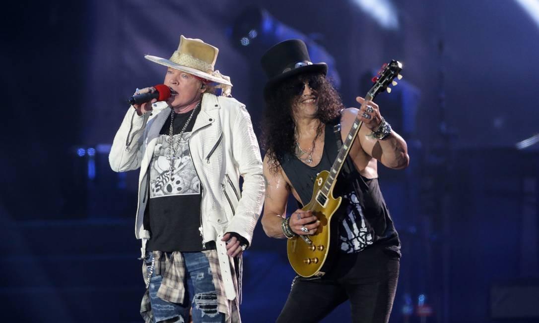 Show do Guns N' Roses no palco Mundo na segunda semana do Rock in Rio de 2017 Foto: Márcio Alves / Agência O Globo