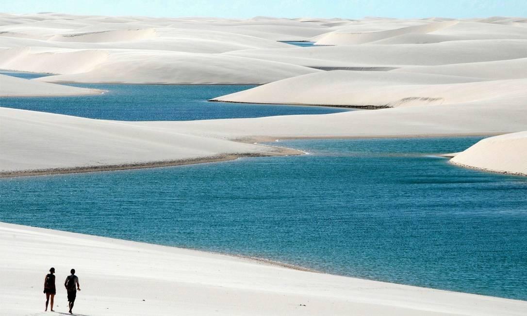 As lagoas paradisíacas dos Lençóis Foto: Divulgação