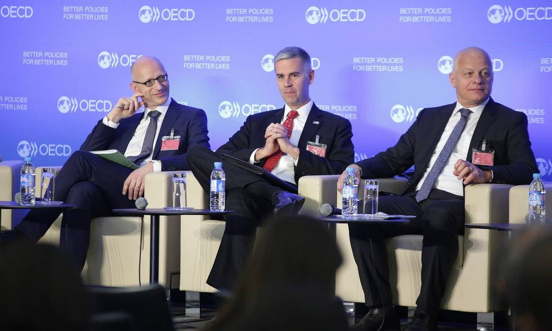 Fórum Global anticorrupção da OCDE, em 2018 Foto: Herve Cortinat/OCDE