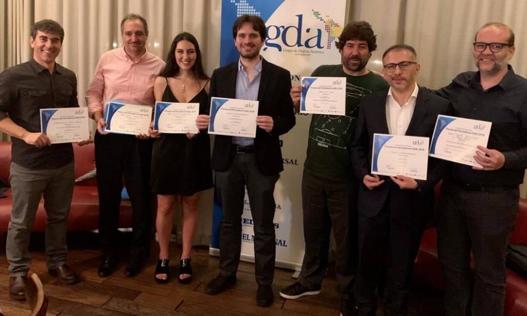 Os premiados da 8ª edição do Prêmio de Jornalismo GDA Foto: Juan Soto-Meléndez - GFR media.