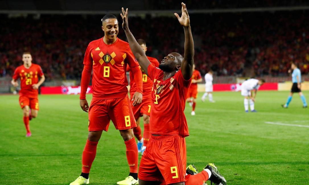 Lukaku comemora gol sobre San Marino Foto: FRANCOIS LENOIR / REUTERS