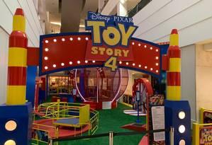 Toy Story. A alegria do desenho da Disney estará presente no Shopping Tijuca Foto: Divulgação