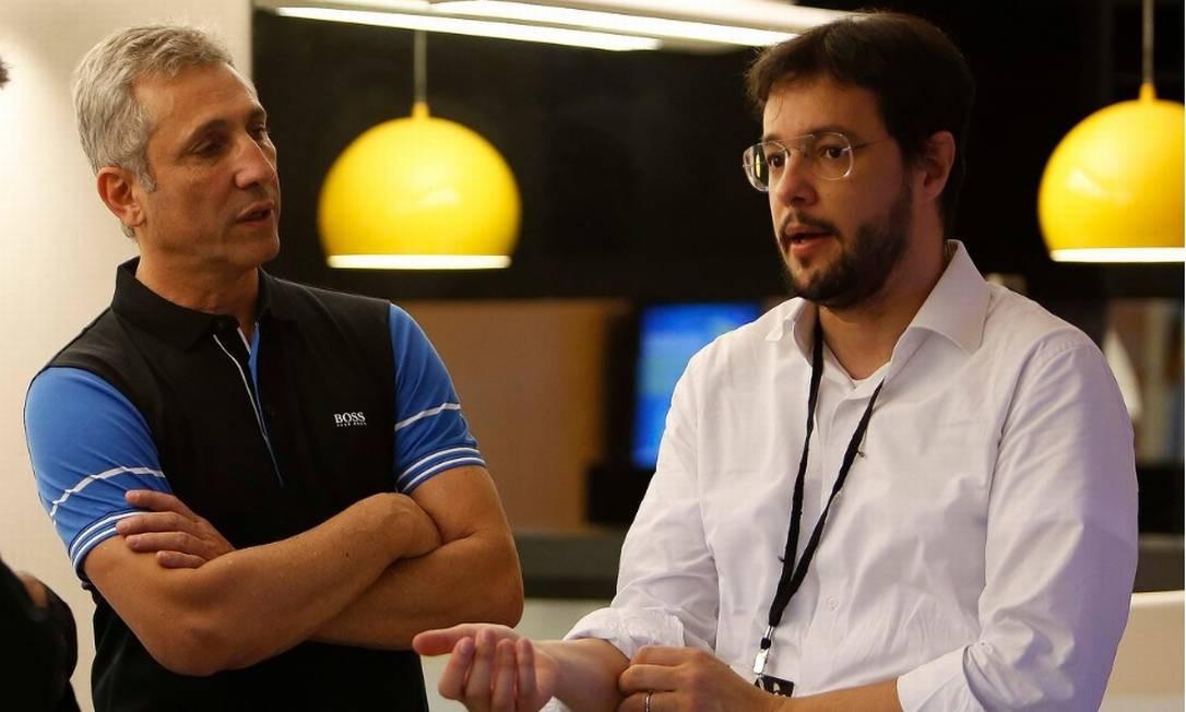 Bruno Maia (à direita) deixou a diretoria do Vasco Foto: Rafael Ribeiro/vasco.com.br