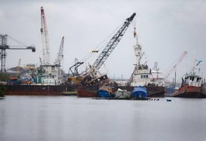 A proposta do cluster marítimos pretende criar mecanismos e possibilitar ações em prol do desenvolvimento da indústria naval na região Foto: Roberto Moreyra / Agência O Globo