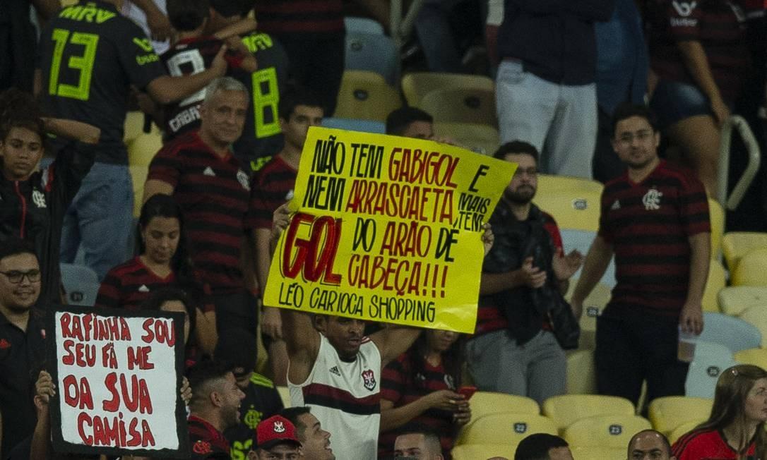 Torcedor do Flamengo previu gol de Arão de cabeça Foto: Alexandre Cassiano / Alexandre Cassiano