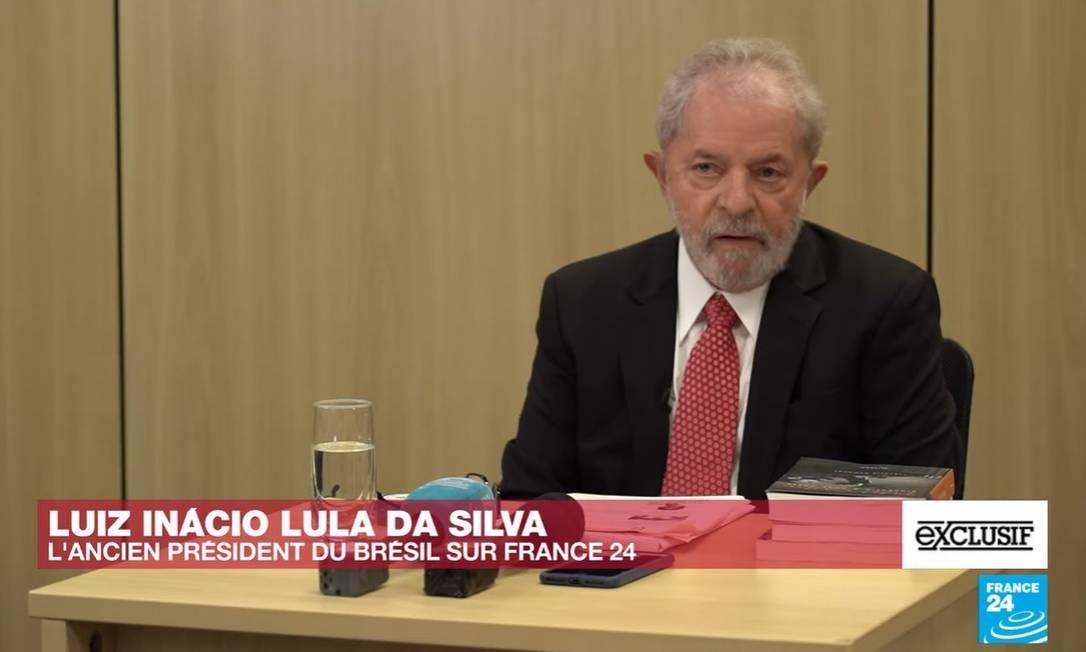 Lula concedeu entrevista ao canal France 24 exibida nesta sexta (11) Foto: Reprodução