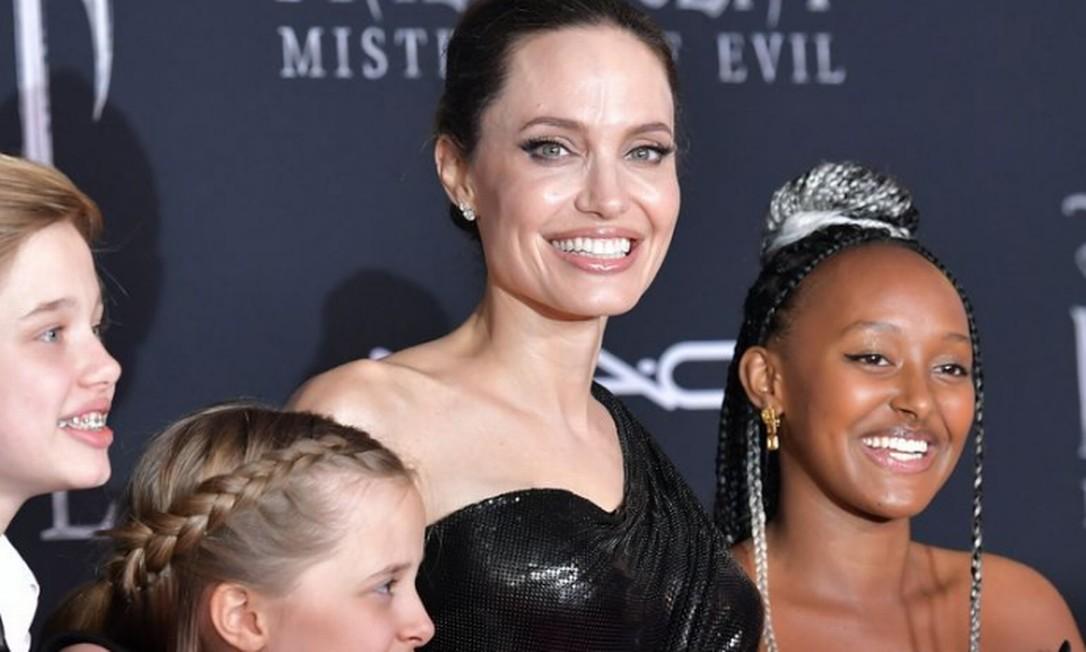 Zahara Jolie-Pitt usa suas joias na premiere de Malévola Foto: Amy Sussman/Getty Image