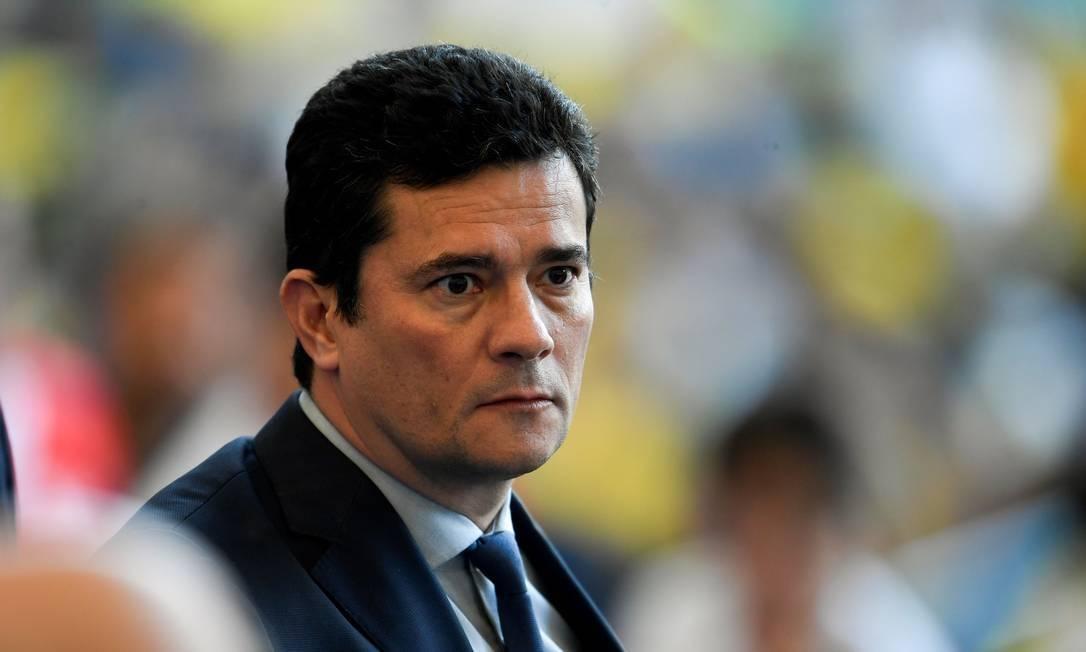 O ministro da Justiça, Sergio Moro Foto: Mauro Pimentel / AFP