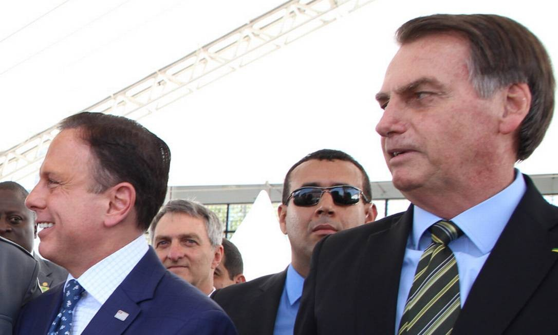 O governador João Doria negou que tenha apoiado a candidatura de Bolsonaro à Presidência e virou alvo dos apoiadores do presidente Foto: Gov SP - 11/10/2019