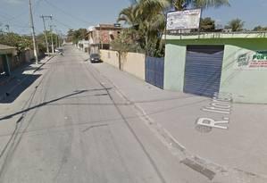 João Pedro foi baleado na porta de casa, na Rua Itororo, segundo moradores Foto: Reprodução