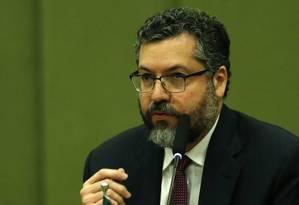 Ernesto Araújo, ministro das Relações Exteriores Foto: Jorge William / Agência O Globo
