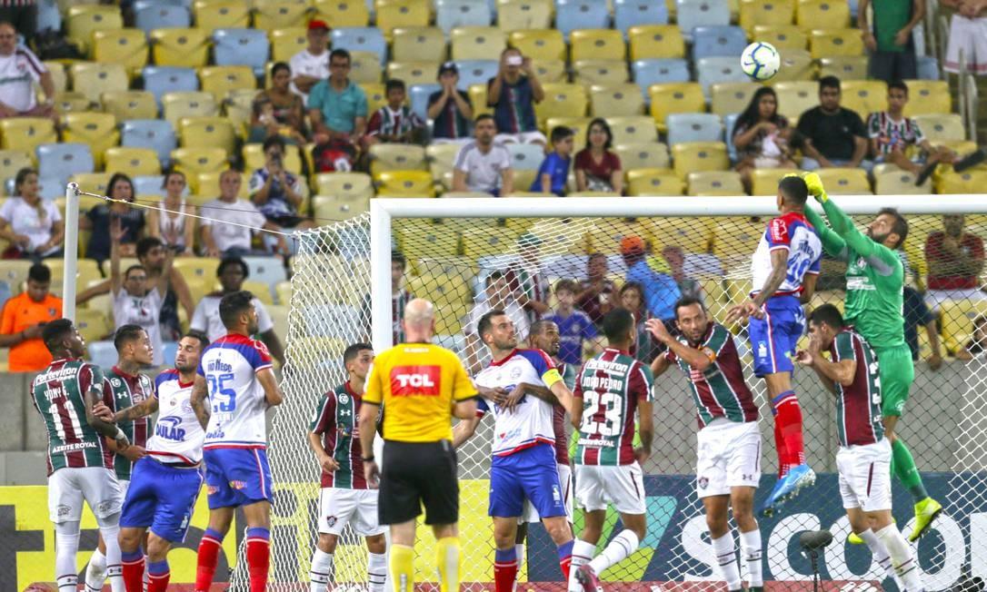 Goleiro Muriel voltou a ser um dos destaques do Fluminense Foto: Antonio Scorza / Antonio Scorza