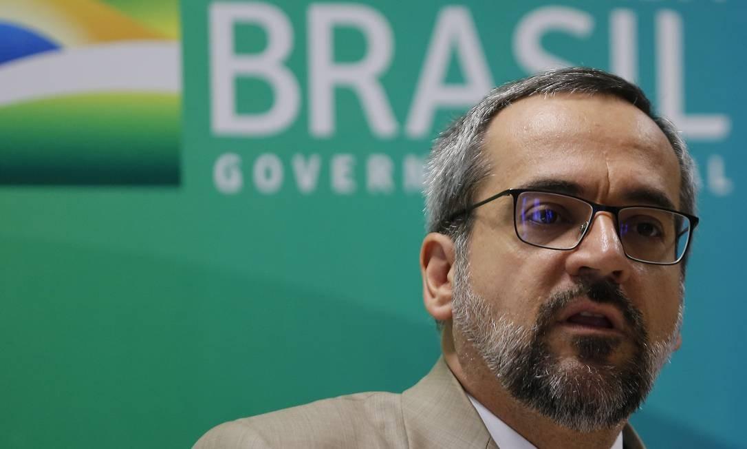 O Ministro da Educação Abraham Weintraub Foto: Jorge William