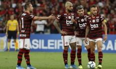 Rafinha pode voltar ao Flamengo a tempo de enfrentar o Grêmio Foto: Marcelo Theobald / Agência O Globo