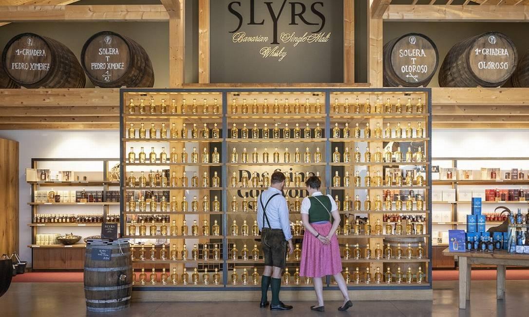 A destilaria Slyrs, na Bavária, produz cerca de 150 mil garrafas de uísque por ano Foto: Andreas Meichsner / The New York Times