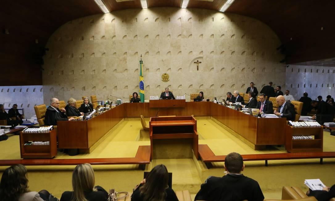 O plenário do Supremo Tribunal Federal Foto: Jorge William / Agência O Globo/27-06-2019