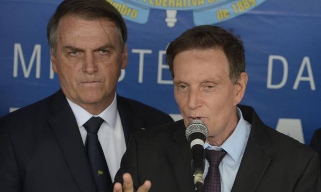 Jair Bolsonaro e Marcelo Crivella Foto: Divvulgação